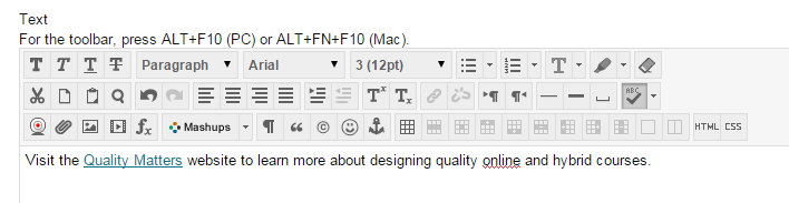 The highlighted text will now appear as a web link that is underlined.