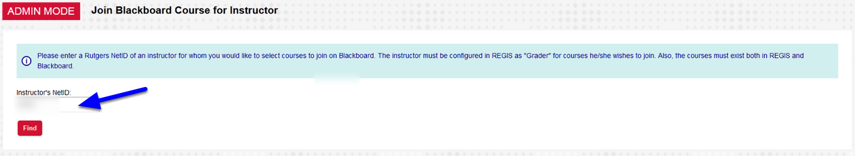 Enter the NETID of the Instructor you wish to Add and click Find