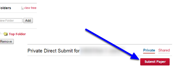 Click on the Submit Paper icon.