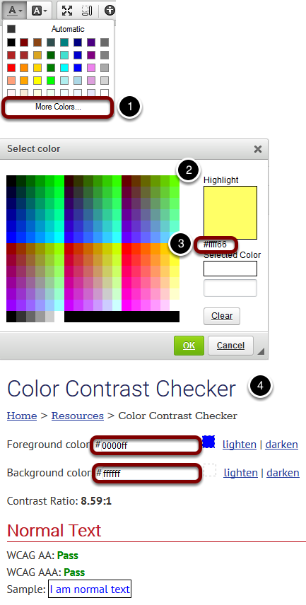 Check your color selection for adequate contrast.