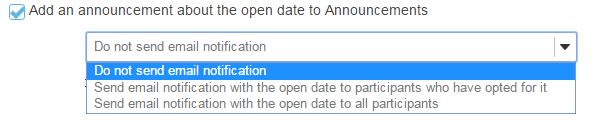Add an announcement. (Optional)