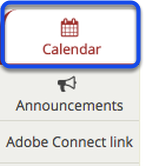 To access this tool, select Calendar from the Tool Menu of your site.