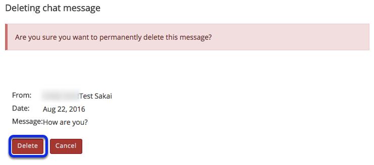 Confirm deletion.
