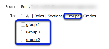 Choose recipients by group.