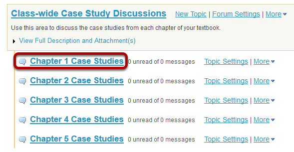 Select a topic within the forum.