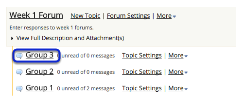 You can also click on the title of a topic to select it.
