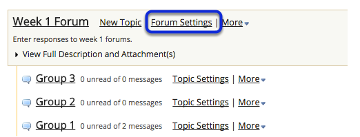 You can also click Forum Settings next to the forum you want to delete.