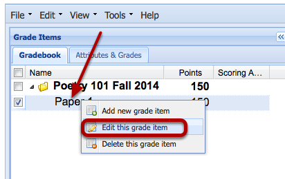 Release item grades to students.