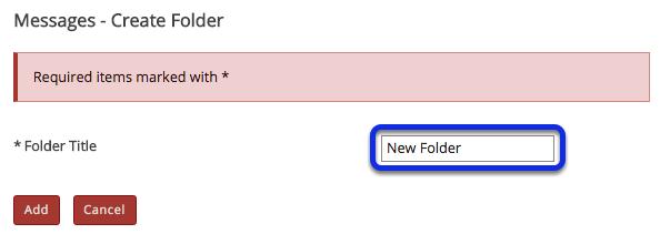 Enter a folder title.