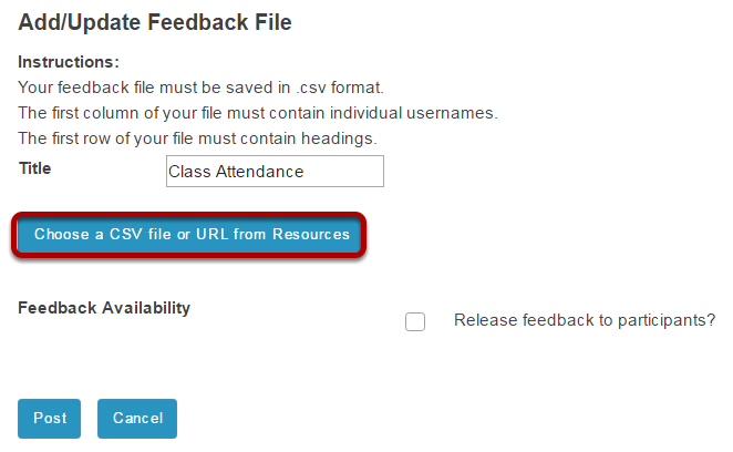 Select your file.