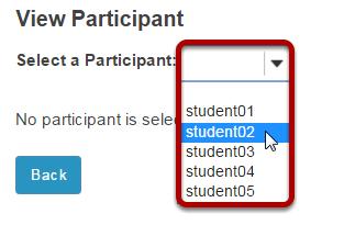 Select the student's username.