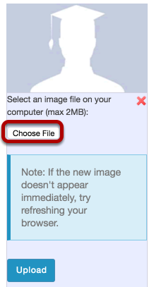 Select a new picture and upload.