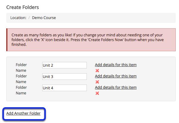 Add multiple folders. (Optional)