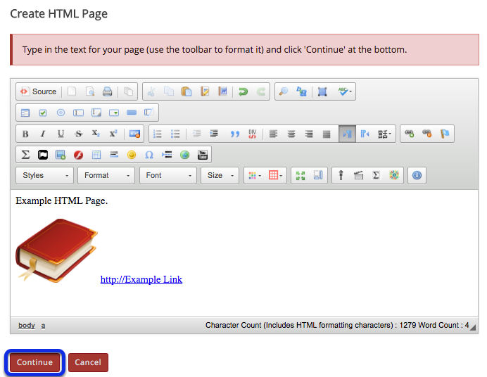 Use the Rich Text Editor to format or add links and media.