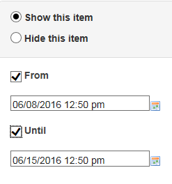 Specify dates.