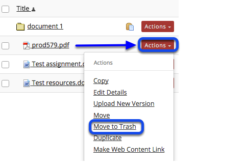 Method 2: Click Actions, then Remove.