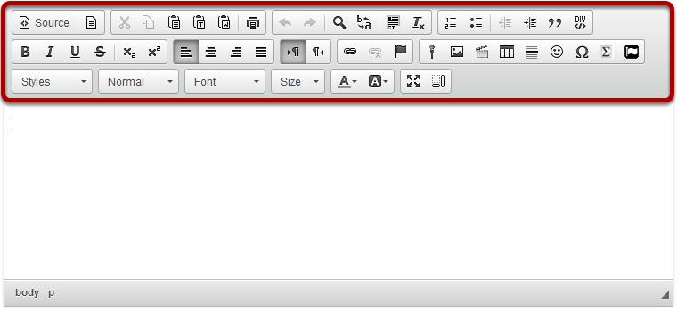 Rich Text Editor Toolbar