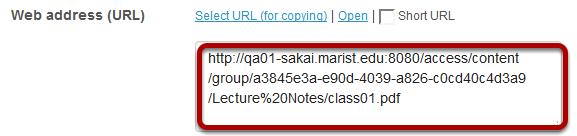 Copy the item URL.