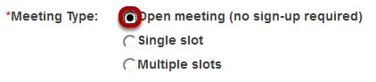 Open meeting