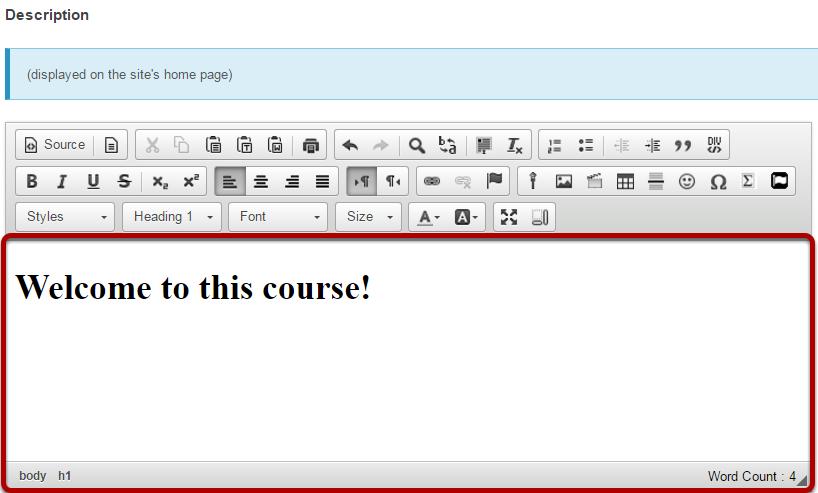 Enter a site description.