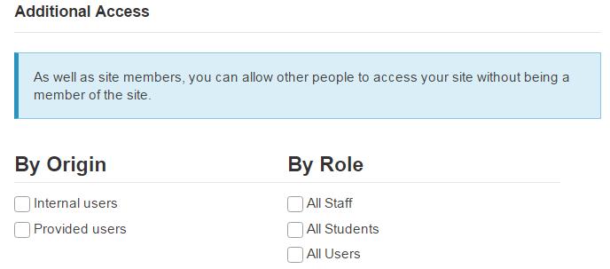 Designate additional access.