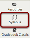 To access this tool, select the Syllabus from the Tool Menu of your site.