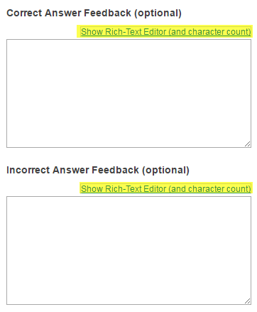 Add answer feedback. (Optional)