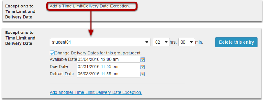 Exceptions to Time Limit and Delivery Date.