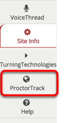 ProctorTrack should now appear in the left margin at the bottom