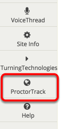 """Click on """"ProctorTrack"""" in the left margin"""
