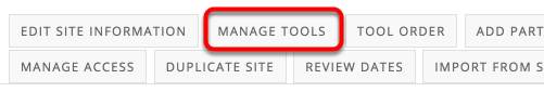 "Click ""Manage Tools"" near the top."