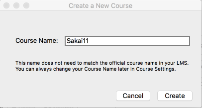Enter course name