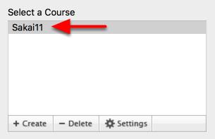 Choose a Course