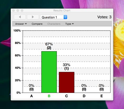 Selecting correct answers