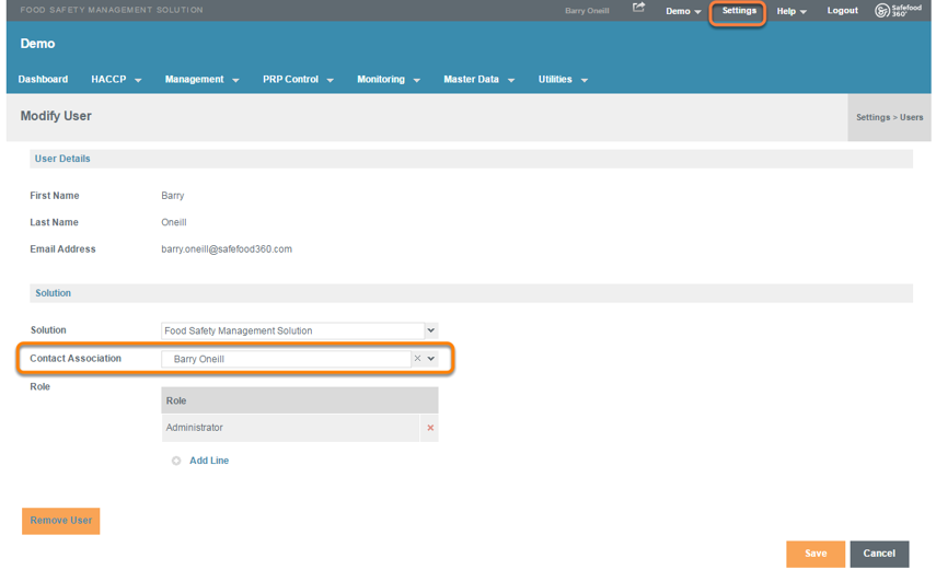 Associate Users with Contacts to Enable 'My Actions'