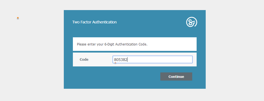 Login with Two Factor Authentication
