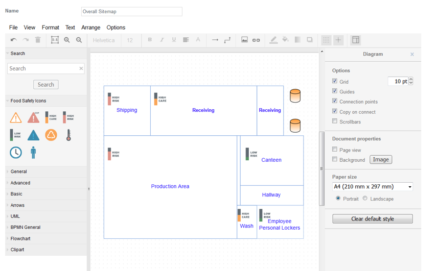 1. Draw the Site Map