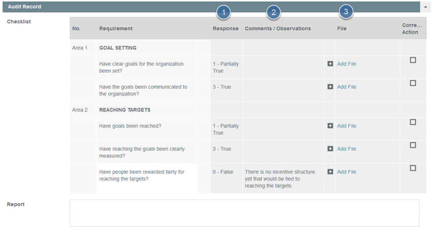 Enter Self Assessment Audit Report (Site contact to complete this stage)