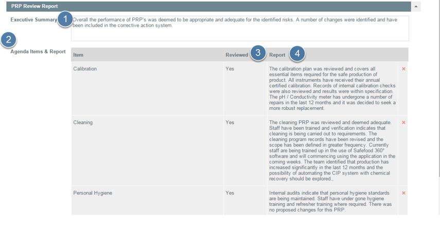 Enter PRP Review Report