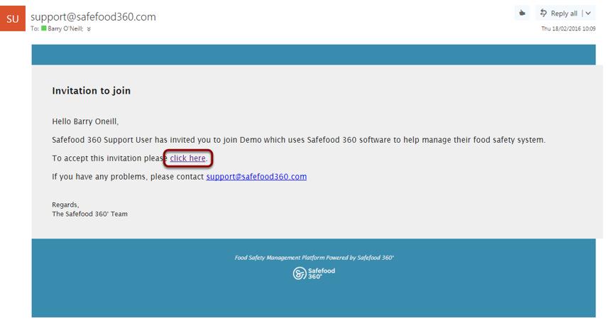 User Accepts Invitation