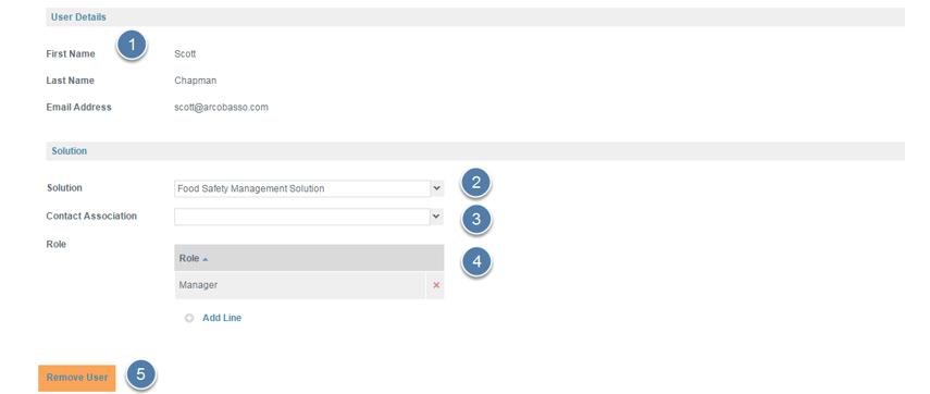Modify Existing User