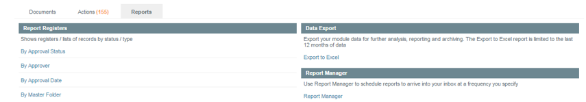 Use the Reports to Filter Documents