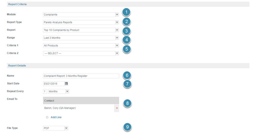 Configure The Report Scheduling