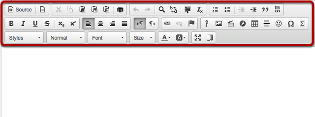 Rich Text Editor Toolbar