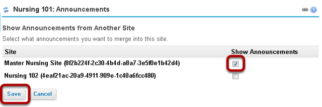 Select the course to merge from.