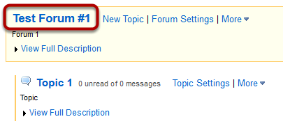 Choose a forum.