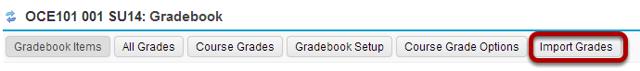Click Import Grades.