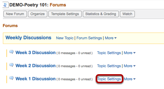 Click Topic Settings.