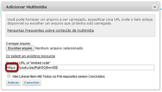 """Alterar """"http"""" para """"https"""". (Opcional)"""