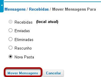 Clicar em Mover Mensagem.
